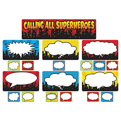 Calling all superheroes!  This super fun bulletin board is perfect for calling out students' strengths.  Make sure you are focusing on what they are already good at and celebrating those differences!  #superheroclassroom #schoolbulletinboards