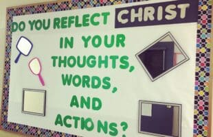Reflecting Christ Bulletin Board