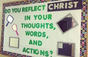 Reflecting Christ Bulletin Board