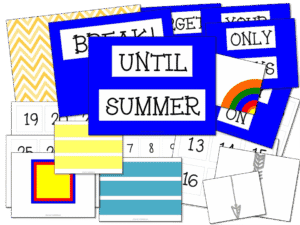 End of the Year Countdown Bulletin Board Set