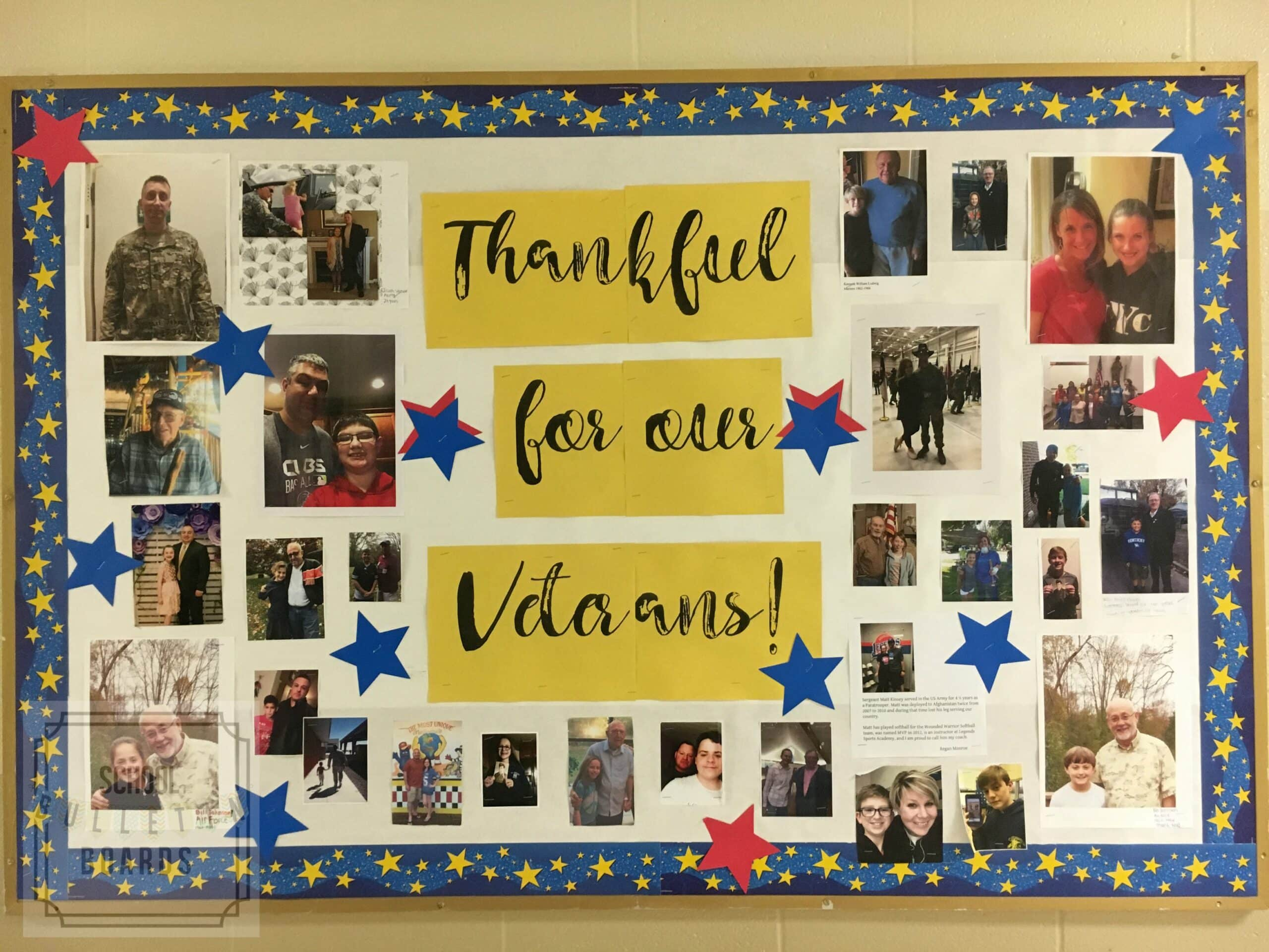 Thank You Veterans Bulletin Board School Bulletin Boards