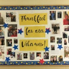 Thank You Veterans Bulletin Board