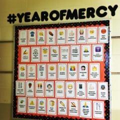 Works of Mercy Bulletin Board