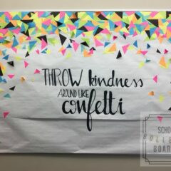 This is a perfect bulletin board for any student in any school!  Such a great message to spread a positive acts of kindness! #schoolbulletinboards #randomactsofkindness