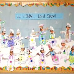 Having seasonal bulletin boards that aren't holiday specific can be challenging at times, depending on the makeup of your students and local community.  This board is a great way to incorporate the season, while still being aware of religious differences. #schoolbulletinboards #winter