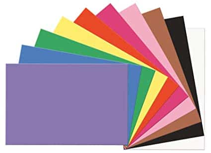 "SunWorks Construction Paper, 10 Assorted Colors,  12"" x 18"", 100 Sheets"