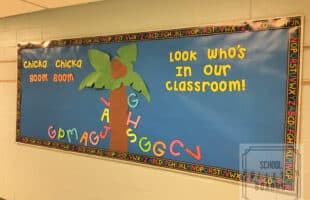 Back to school bulletin boards are fun for new students, young and old. And when it integrates with literature you'll be reading anyway, even better! #chickachickaboomboom #schoolbulletinboards