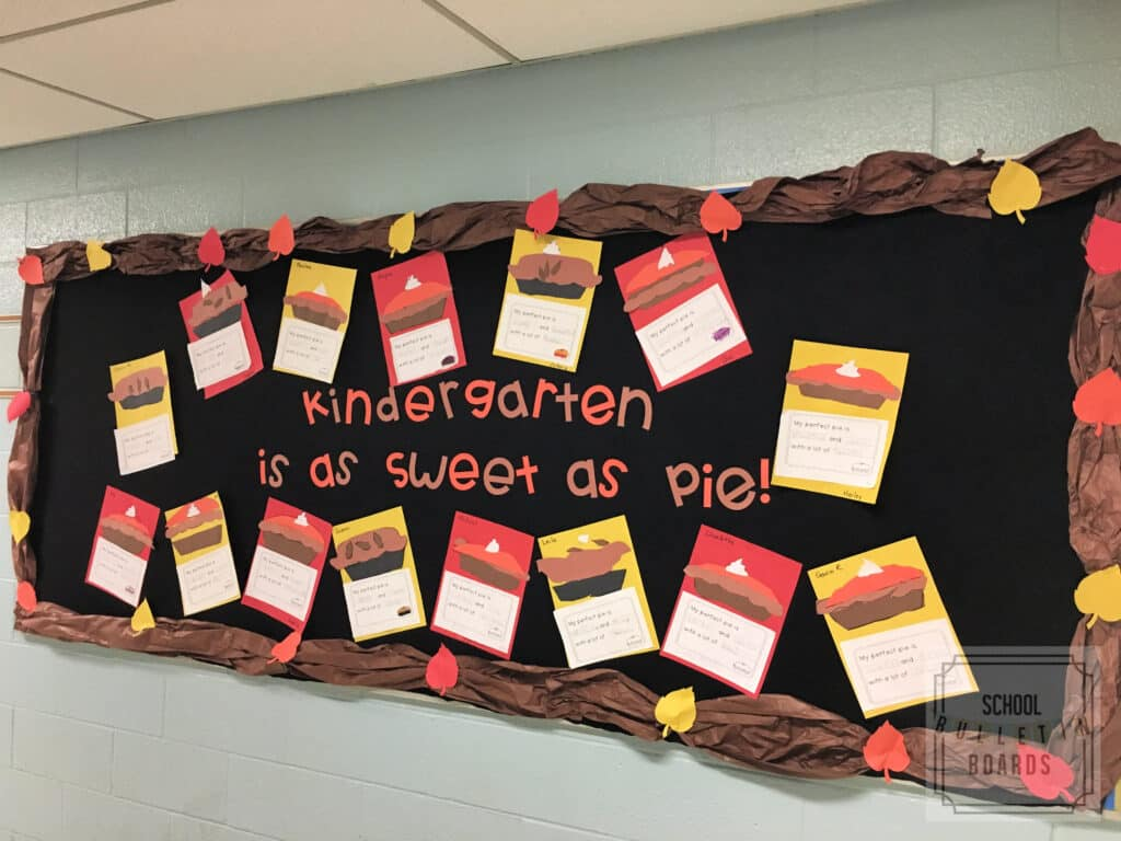 Make fall fun with a writing assignment so sweet it's sure to please and then display the sweet show of student success!   #schoolbulletinboards #writinglessonplan