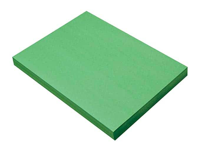 "SunWorks Construction Paper, Holiday Green,  9"" x 12"", 100 Sheets"