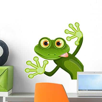 Wallmonkeys Frog Wall Decal Peel and Stick Graphic (18 in W x 18 in H) WM323350