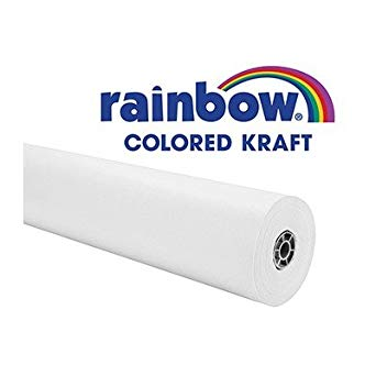 Rainbow Duo-Finish Fiber Light-Weight Kraft Paper Roll, 40 lb, 36 in X 100 ft, White - 214986