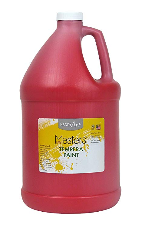 Handy Art Little Masters Tempera Paint Gallon, Red
