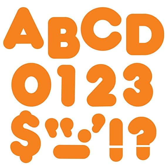 "TREND enterprises, Inc. Orange 4"" Casual Uppercase Ready Letters"