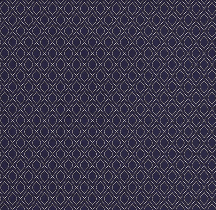 Navy Blue Pattern Fabric