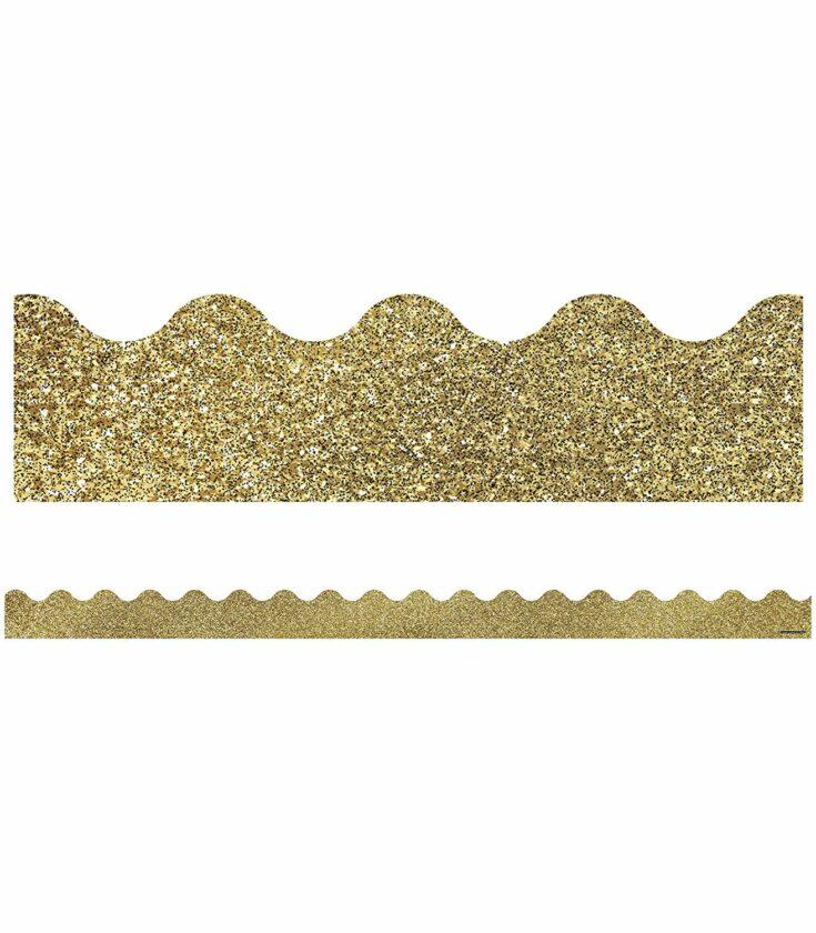 Gold Bulletin Board Border